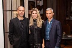 Ricardo Cruz, Laurita Mourão e Sylvain Justum